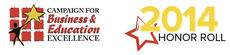 Campaign for Education and Business Excellence Honor Roll 2014 Logo